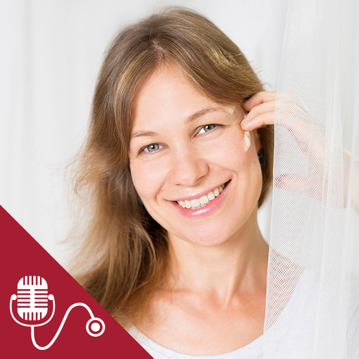 Lena Levin with podcast image